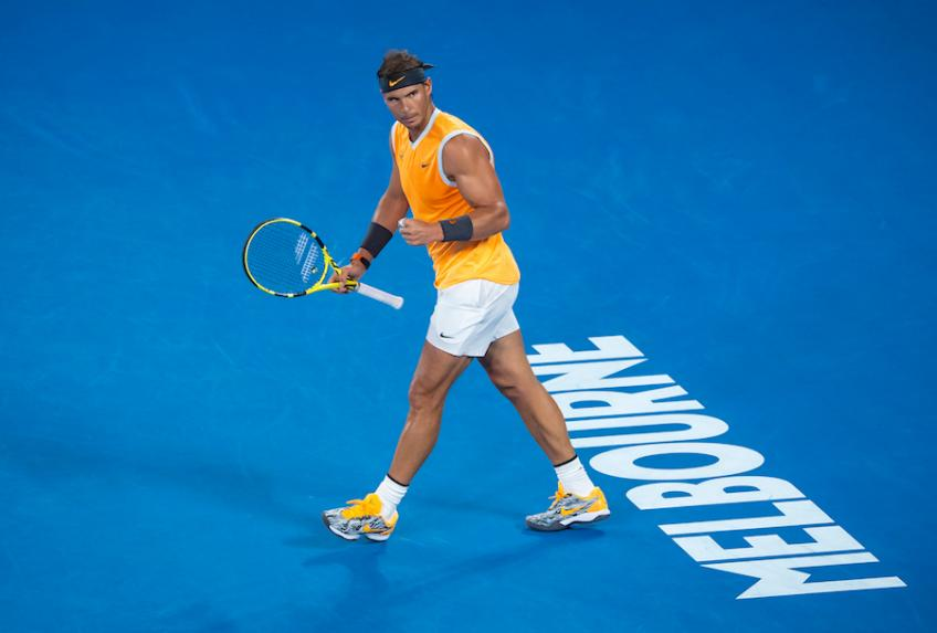 In which statistics is Rafael Nadal overtaken by Federer and Djokovic?