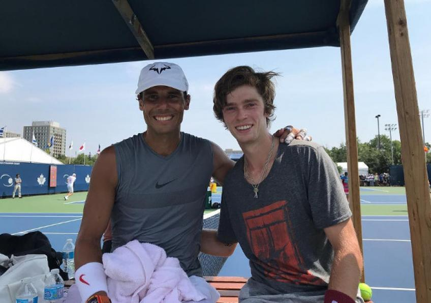 """Andrey Rublev: """"Rafael Nadal is mentally one of the strongest athletes I know"""""""