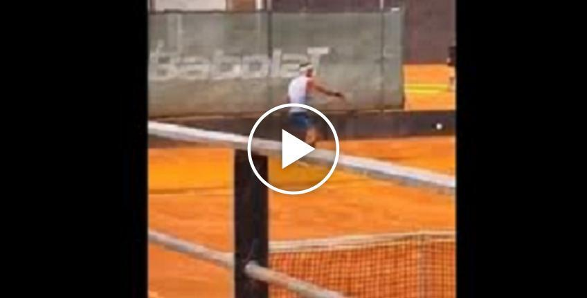 Rafael Nadal practices on clay-courts!